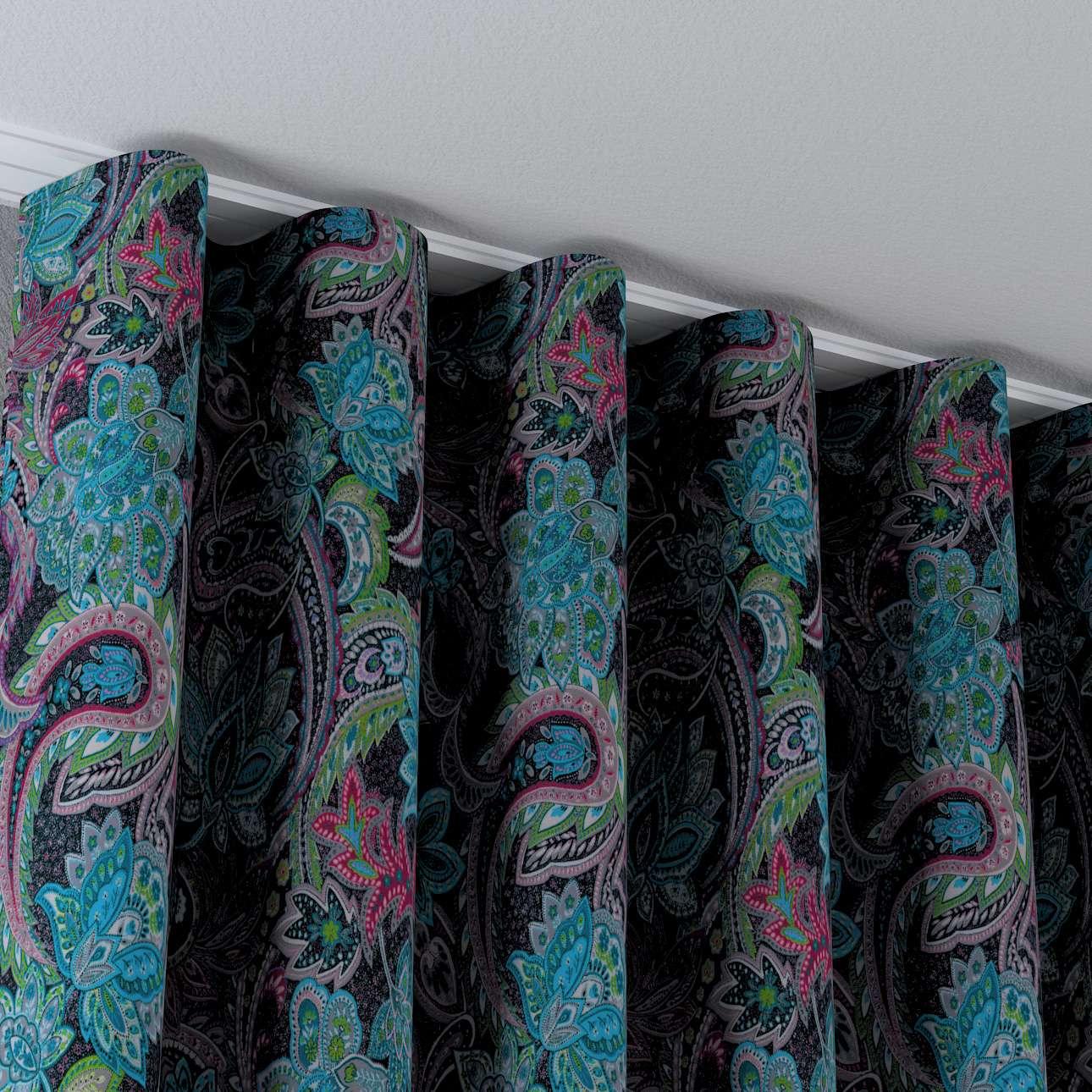 Zaves s riasením WAVE V kolekcii Velvet, tkanina: 704-22