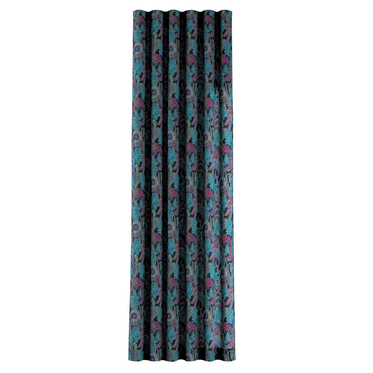 Zasłona na taśmie wave w kolekcji Velvet, tkanina: 704-22