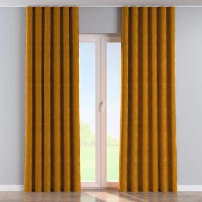 Wave Curtain 704-23 mustard Collection Velvet