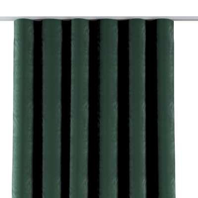 Závěs na řasící pásce wave 704-25 tmavá lesní zeleň Kolekce Velvet