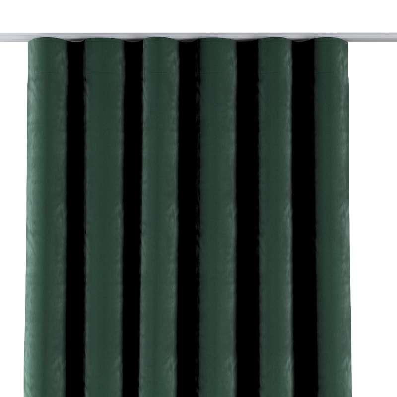 Zasłona na taśmie wave w kolekcji Velvet, tkanina: 704-25