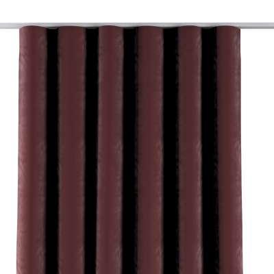 Závěs na řasící pásce wave 704-26 bordó Kolekce Velvet