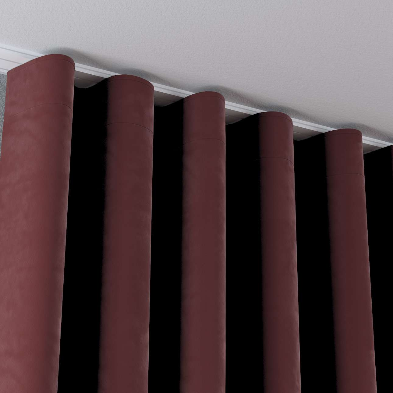 Zasłona na taśmie wave w kolekcji Velvet, tkanina: 704-26