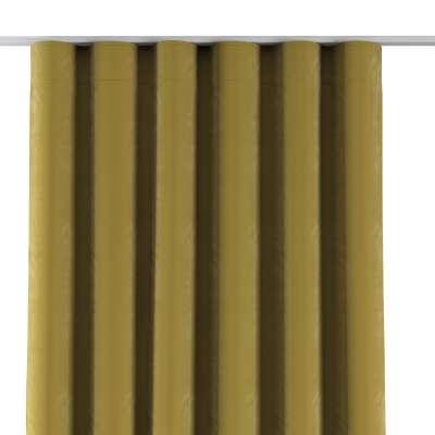 Závěs na řasící pásce wave 704-27 olivově zelená Kolekce Velvet