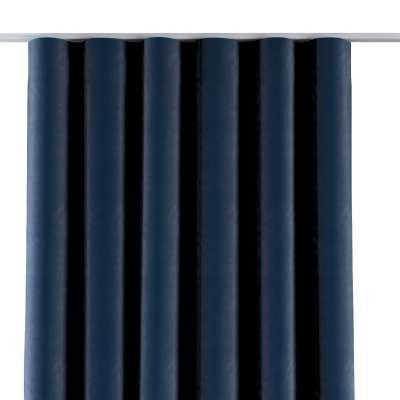 Gardin med wavebånd 704-29 Mørkeblå Kolleksjon Velvet