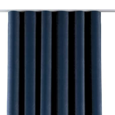 Závěs na řasící pásce wave 704-29 tmavě modrá Kolekce Velvet