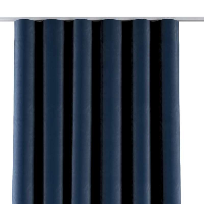 Zasłona na taśmie wave w kolekcji Velvet, tkanina: 704-29