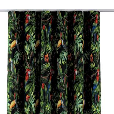 Wave Curtain 704-28 green-red patterns on a black background Collection Velvet