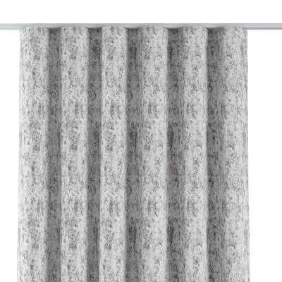 Závěs na řasící pásce wave 704-49 šedo-bílý  Kolekce Velvet