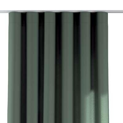 Závěs na řasící pásce wave 159-08 tlumená zelená Kolekce Linen