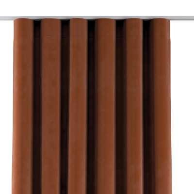 Závěs na řasící pásce wave 704-33 rezavá Kolekce Velvet