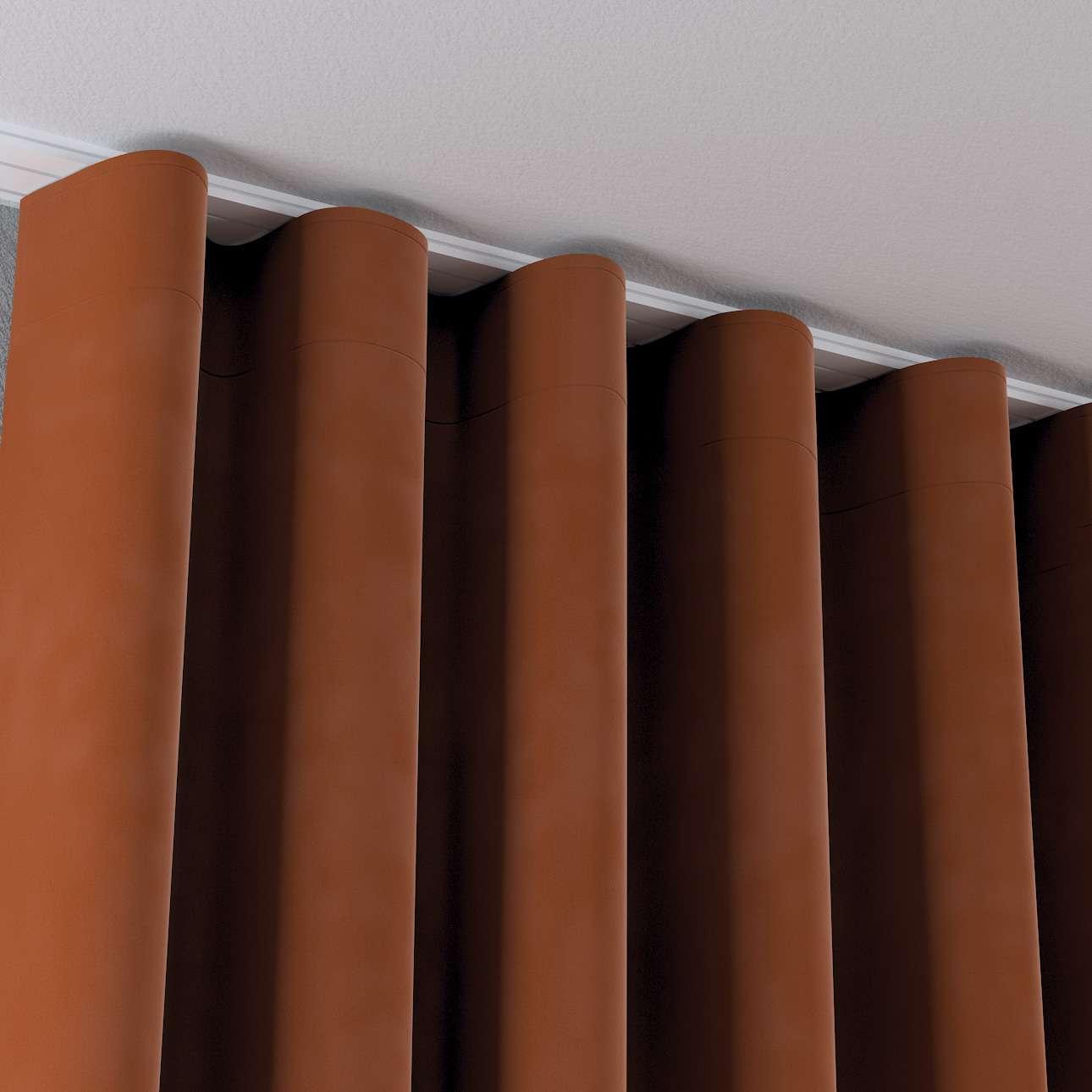 Zasłona na taśmie wave w kolekcji Velvet, tkanina: 704-33