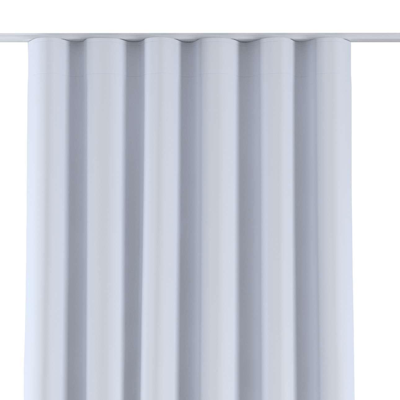 Dekoria Závěs na řasící pásce wave, šedo-bílá, 130x280cm, Blackout, 269-01