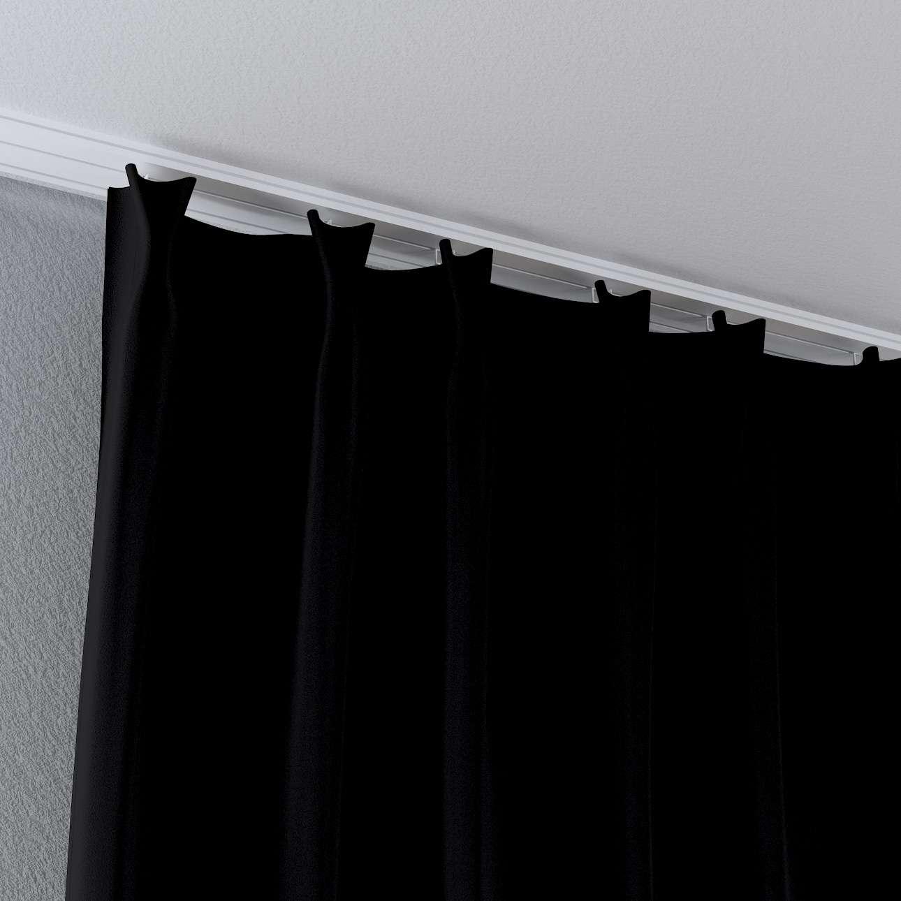 Vorhang mit flämischen Falten von der Kollektion Blackout (verdunkelnd), Stoff: 269-99