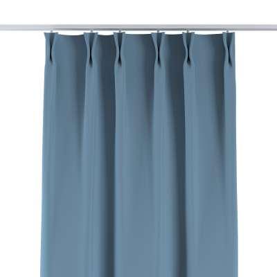 Vorhang mit flämischen Falten 269-08 blau Kollektion Blackout (verdunkelnd)
