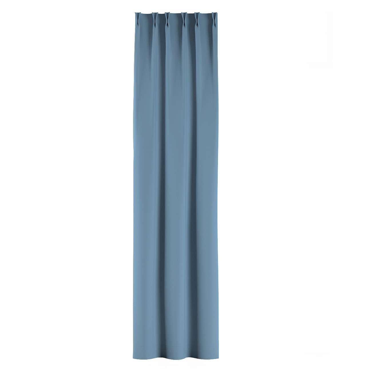Zasłona na haczykach flex w kolekcji Blackout - zaciemniające, tkanina: 269-08