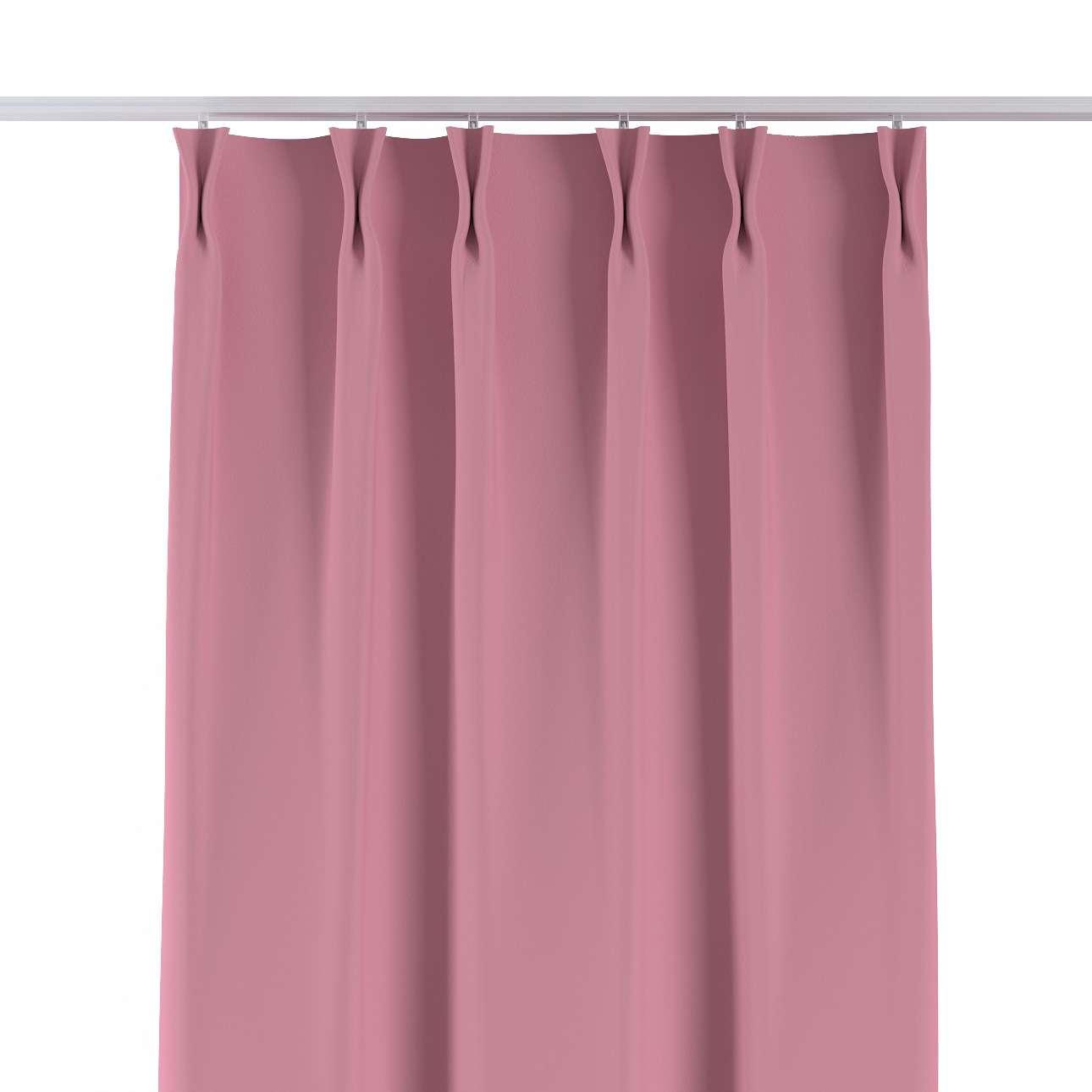 Vorhang mit flämischen Falten von der Kollektion Blackout (verdunkelnd), Stoff: 269-92