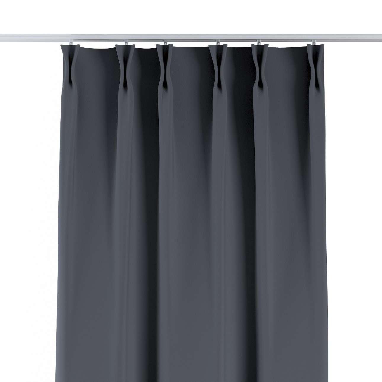 Zasłona na haczykach flex w kolekcji Blackout - zaciemniające, tkanina: 269-76