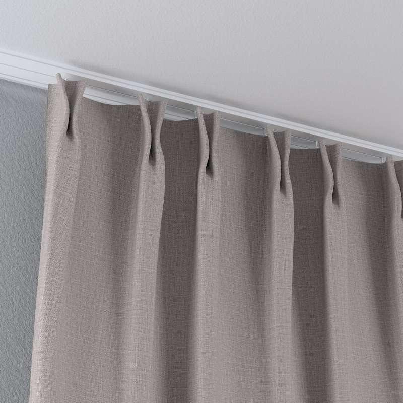 Vorhang mit flämischen Falten von der Kollektion Blackout (verdunkelnd), Stoff: 269-64