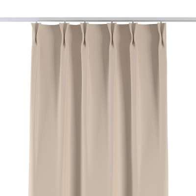 Vorhang mit flämischen Falten 269-66 ecru Kollektion Blackout (verdunkelnd)