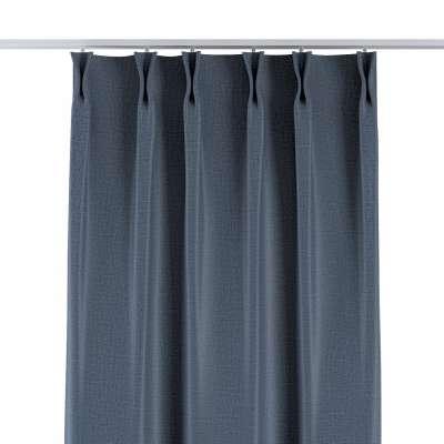 Závěs na hačcích flex 269-67 tmavá modro-šedá s výraznou strukturou Kolekce Blackout