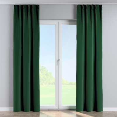 Curtian with pinch pleat 704-13 bottle green Collection Velvet