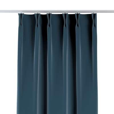 Závěs na hačcích flex 704-16 staroněmecká modrá Kolekce Velvet