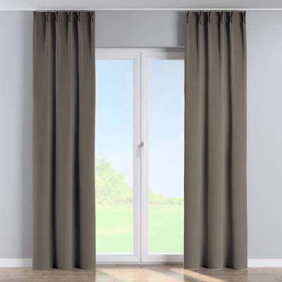Curtian with pinch pleat 704-19 grey/beige Collection Velvet