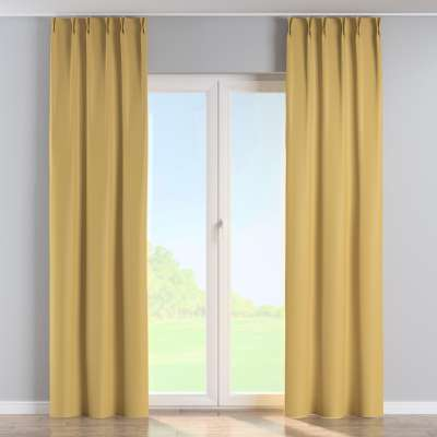 Curtian with pinch pleat 269-68 muted yellow Collection Blackout