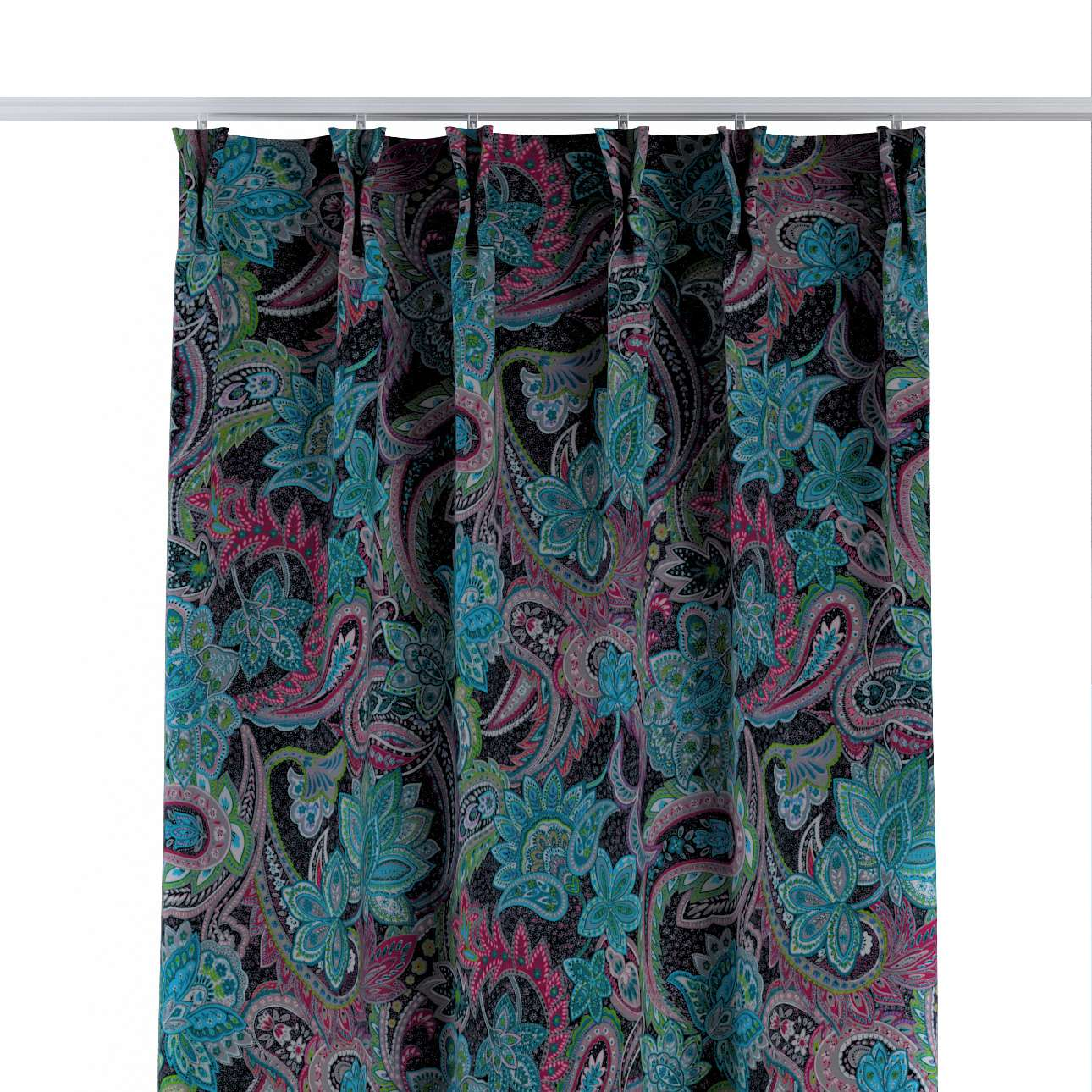 Gordijn met vlaamse plooi van de collectie Velvet, Stof: 704-22