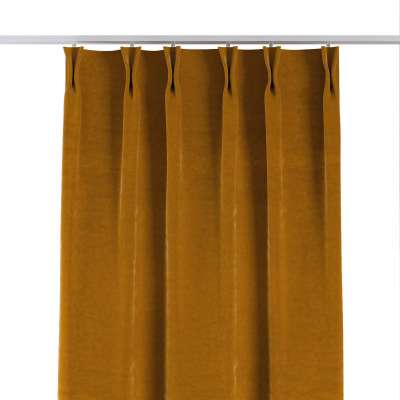 Curtian with pinch pleat 704-23 mustard Collection Velvet