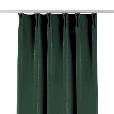 Závěs na hačcích flex 704-25 tmavá lesní zeleň Kolekce Velvet