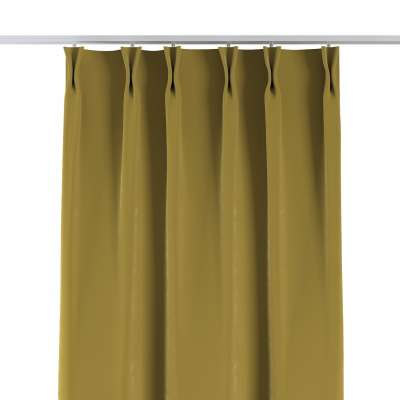 Curtian with pinch pleat 704-27 olive green Collection Velvet
