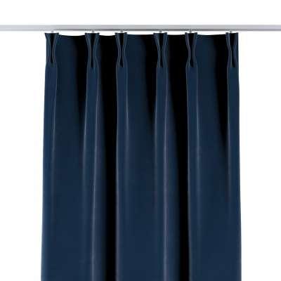 Vorhang mit flämischen Falten 704-29 dunkelblau Kollektion Velvet