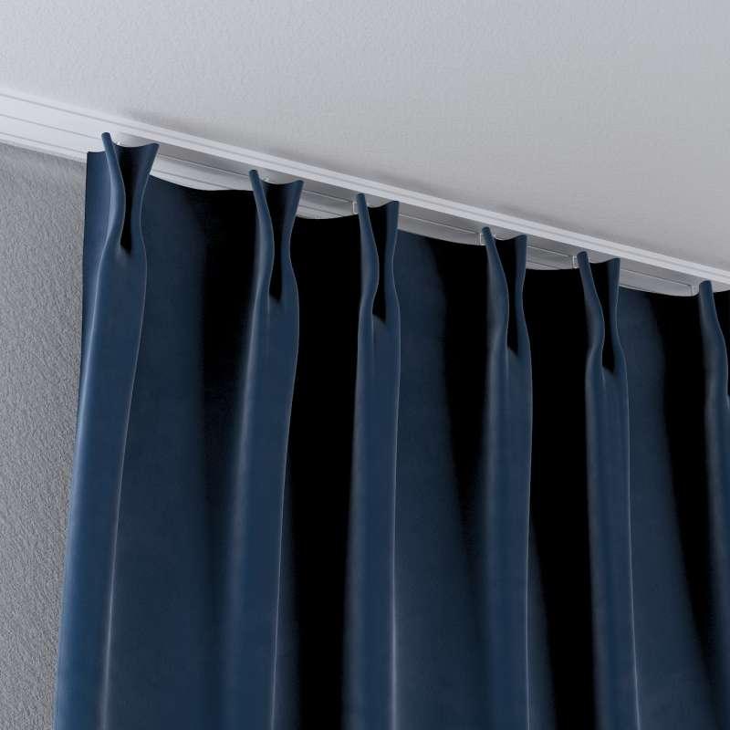 Zasłona na haczykach flex w kolekcji Velvet, tkanina: 704-29