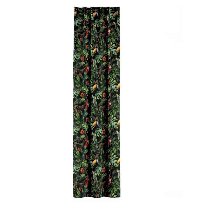Gordijn met vlaamse plooi van de collectie Velvet, Stof: 704-28