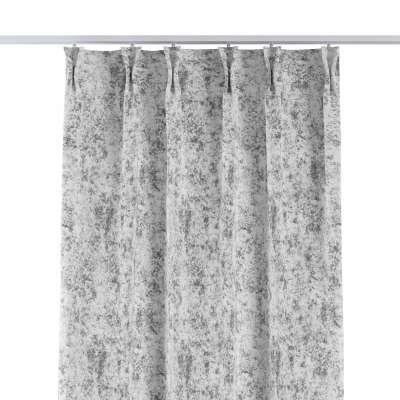 Závěs na hačcích flex 704-49 šedo-bílý  Kolekce Velvet