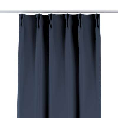 Curtian with pinch pleat 269-16 navy blue Collection Blackout