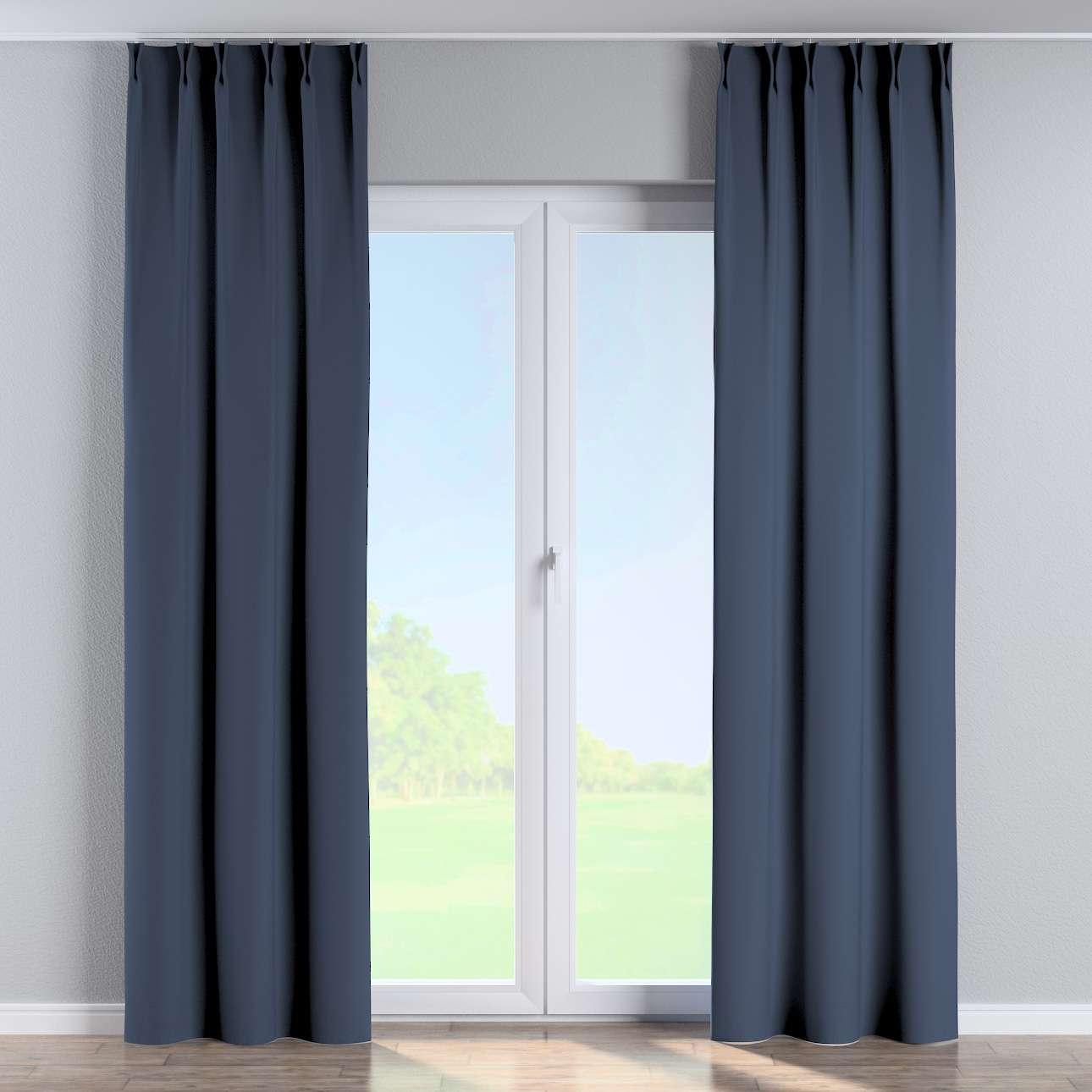 Vorhang mit flämischen Falten von der Kollektion Blackout (verdunkelnd), Stoff: 269-16
