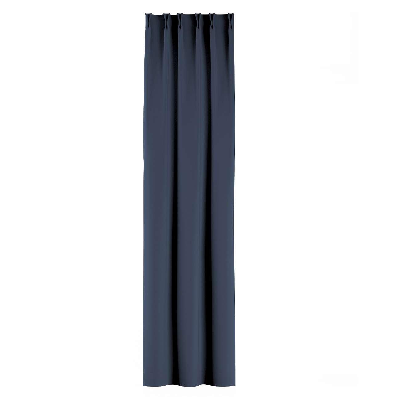 Zasłona na haczykach flex w kolekcji Blackout - zaciemniające, tkanina: 269-16