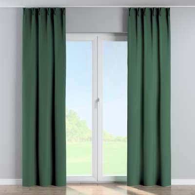 Curtian with pinch pleat 269-18 bottle green Collection Blackout