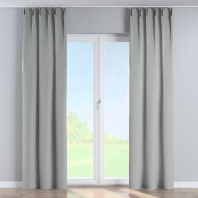 Curtian with pinch pleat 269-19 geometric pattern on a gray background Collection Blackout