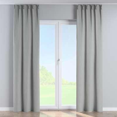 Vorhang mit flämischen Falten 269-19 grau Kollektion Blackout (verdunkelnd)