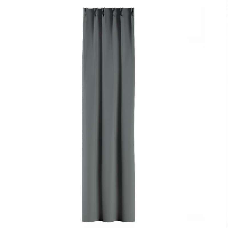 Gordijn met vlaamse plooi van de collectie Blackout 280 cm, Stof: 269-07