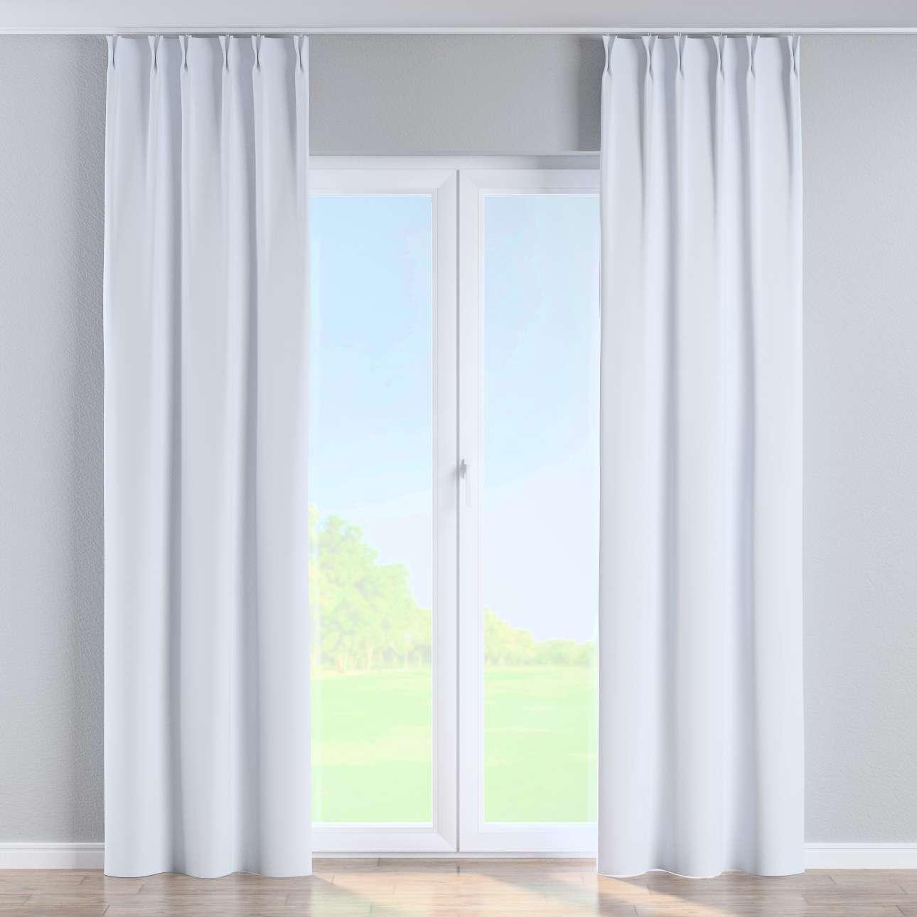 Vorhang mit flämischen Falten von der Kollektion Blackout (verdunkelnd), Stoff: 269-01