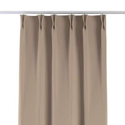 Vorhang mit flämischen Falten 269-00 beige Kollektion Blackout (verdunkelnd)