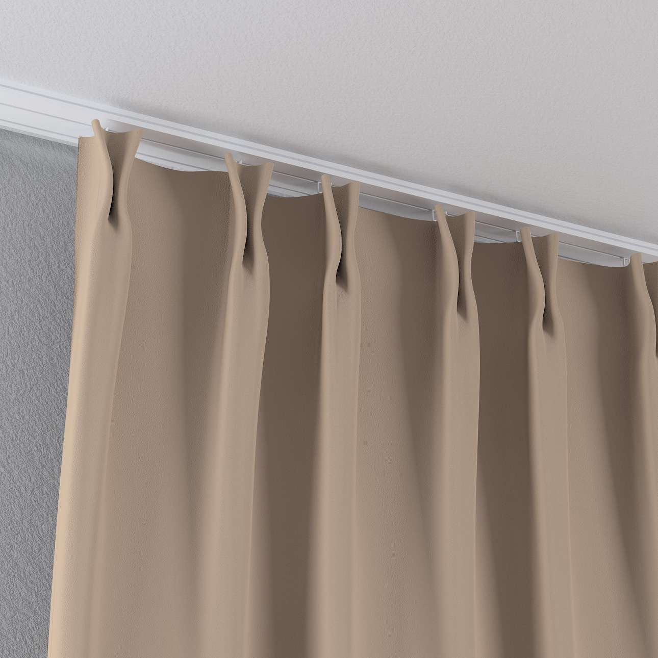 Zasłona na haczykach flex w kolekcji Blackout - zaciemniające, tkanina: 269-00
