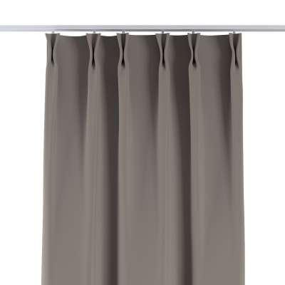 Vorhang mit flämischen Falten von der Kollektion Blackout (verdunkelnd), Stoff: 269-81