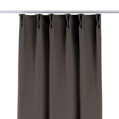 Curtian with pinch pleat 269-80 dark chocolate brown Collection Blackout