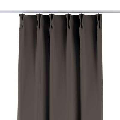 Vorhang mit flämischen Falten 269-80 braun Kollektion Blackout (verdunkelnd)